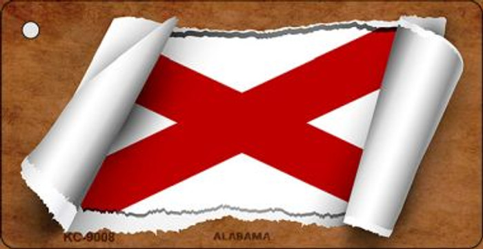 Alabama Flag Scroll Wholesale Novelty Key Chain