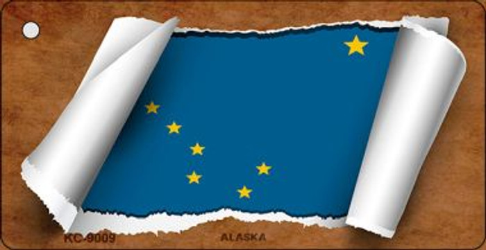 Alaska Flag Scroll Wholesale Novelty Key Chain