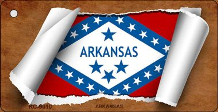 Arkansas Flag Scroll Wholesale Novelty Key Chain