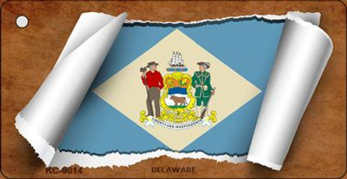 Delaware Flag Scroll Wholesale Novelty Key Chain