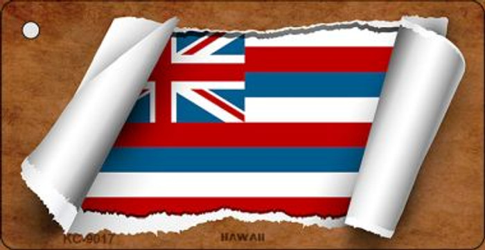 Hawaii Flag Scroll Wholesale Novelty Key Chain