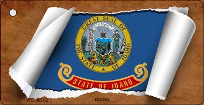 Idaho Flag Scroll Wholesale Novelty Key Chain