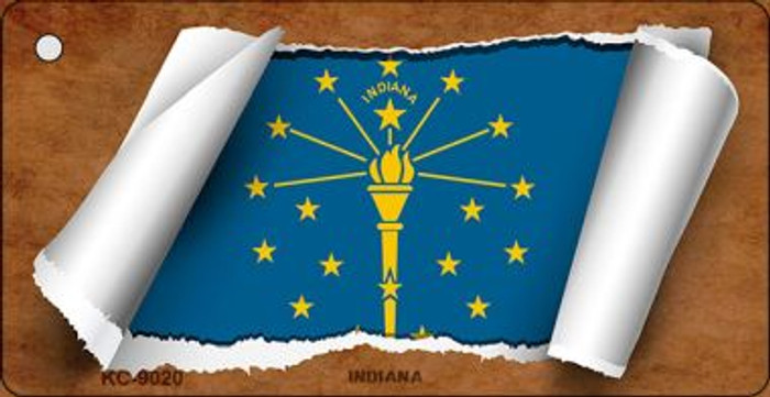 Indiana Flag Scroll Wholesale Novelty Key Chain