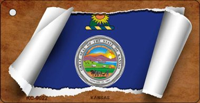 Kansas Flag Scroll Wholesale Novelty Key Chain