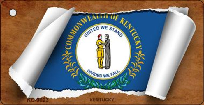 Kentucky Flag Scroll Wholesale Novelty Key Chain