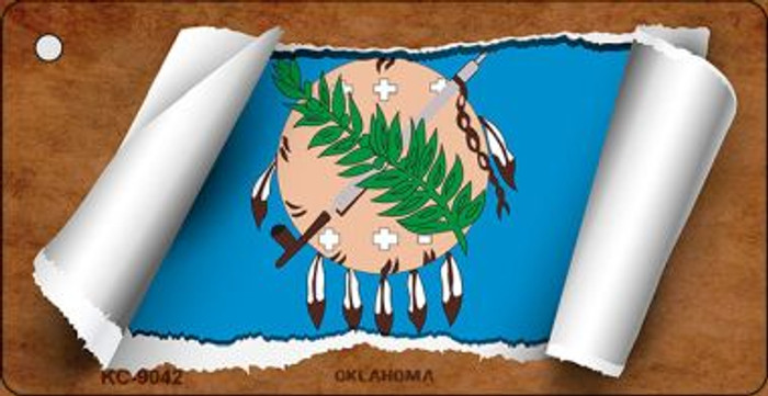 Oklahoma Flag Scroll Wholesale Novelty Key Chain