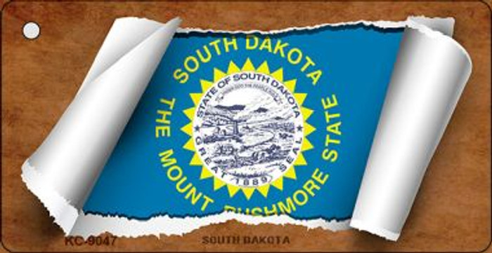 South Dakota Flag Scroll Wholesale Novelty Key Chain