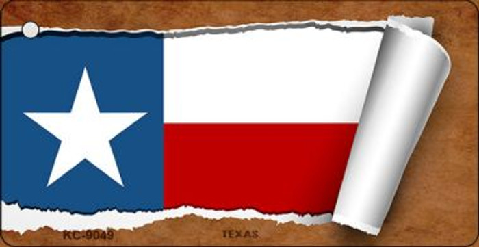 Texas Flag Scroll Wholesale Novelty Key Chain