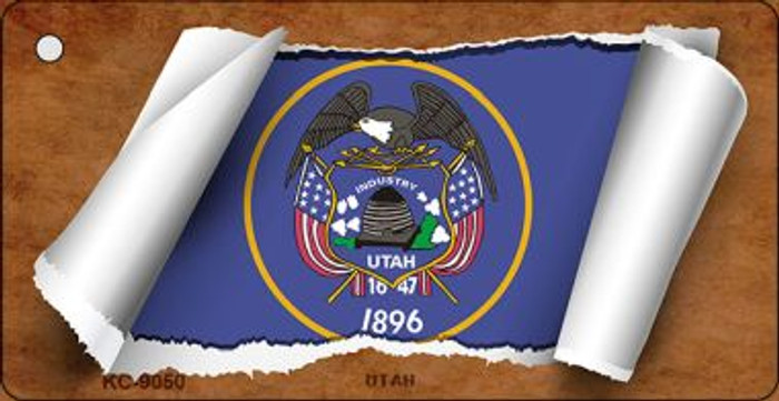 Utah Flag Scroll Wholesale Novelty Key Chain