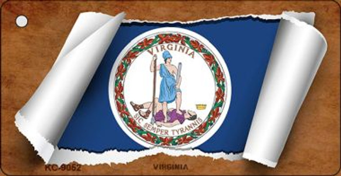 Virginia Flag Scroll Wholesale Novelty Key Chain