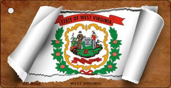 West Virginia Flag Scroll Wholesale Novelty Key Chain