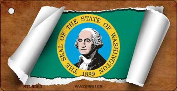 Washington Flag Scroll Wholesale Novelty Key Chain