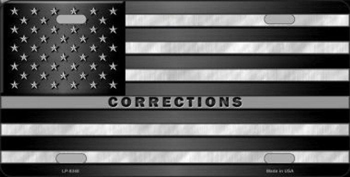 American Flag Corrections Wholesale Metal Novelty License Plate