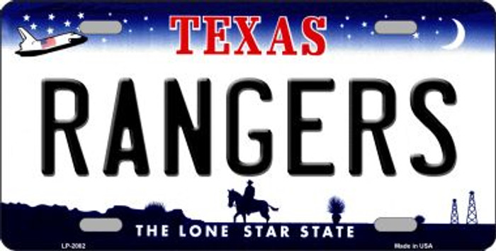 Rangers Texas State Background Wholesale Novelty Metal License Plate