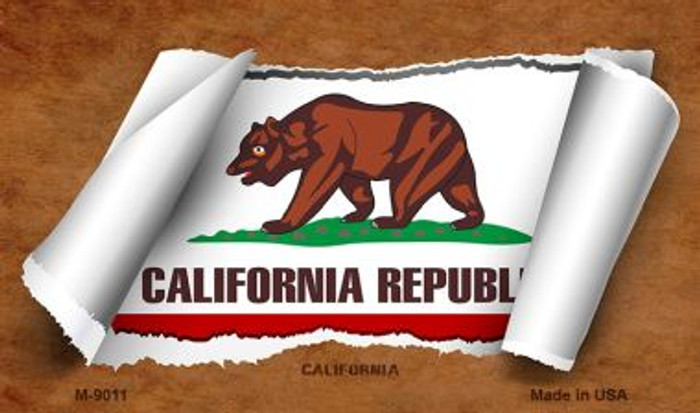 California Scroll Wholesale Novelty Metal Magnet M-9011