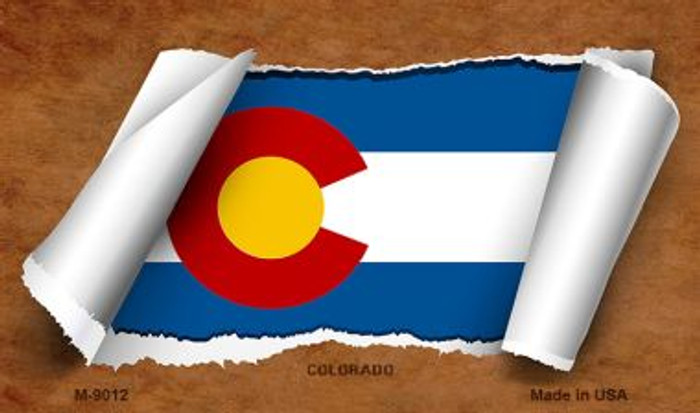 Colorado Scroll Wholesale Novelty Metal Magnet