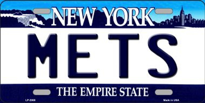 Mets New York State Background Wholesale Metal Novelty License Plate