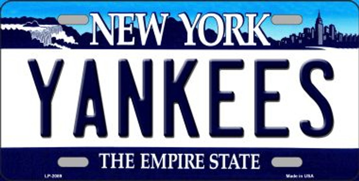 Yankees New York State Background Wholesale Novelty Metal License Plate