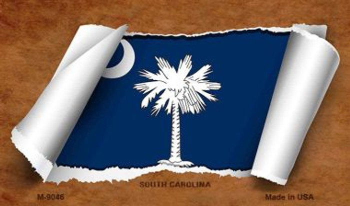 South Carolina Scroll Wholesale Novelty Metal Magnet