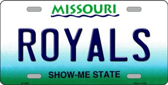Royals Missouri State Background Wholesale Novelty Metal License Plate