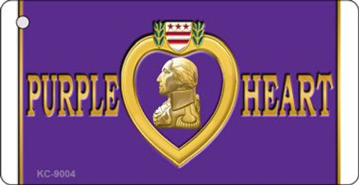 Purple Heart Novelty Wholesale Metal Key Chain