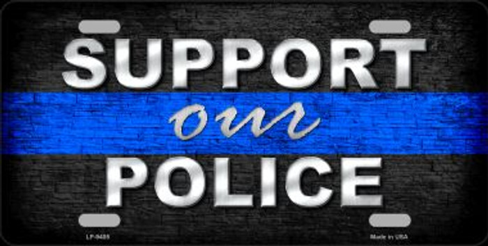 Support Our Police Novelty Wholesale Metal License Plate