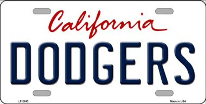 Dodgers California State Background Wholesale Novelty Metal License Plate