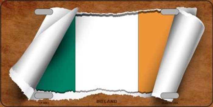 Ireland Flag Scroll Wholesale Metal Novelty License Plate