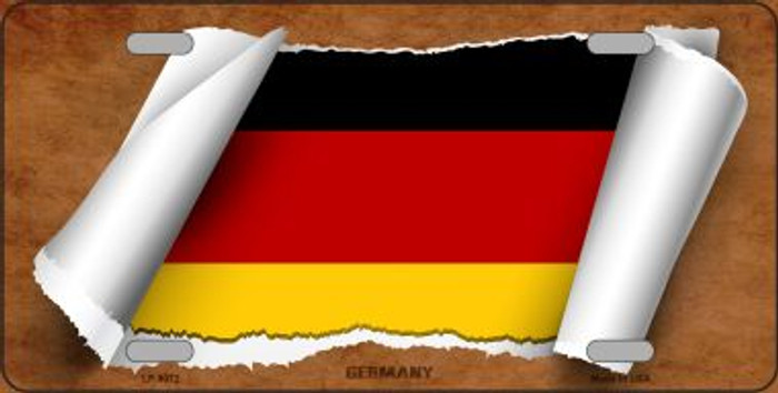 Germany Flag Scroll Wholesale Metal Novelty License Plate