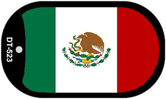 """Mexico Flag Dog Tag Kit 2"""" Wholesale Metal Novelty Necklace"""