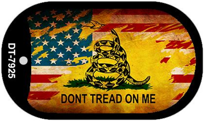 Don't Tread On Me Dog Tag Kit Metal Novelty Necklace Wholesale