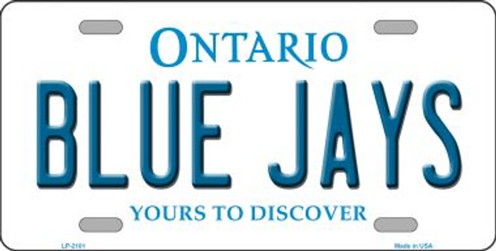 Blue Jays Toronto Canada Province Background Wholesale Metal Novelty License Plate