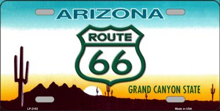 Route 66 Arizona Wholesale Metal Novelty License Plate