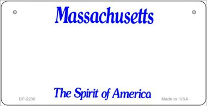 Massachusetts Novelty State Background Bicycle License Plate
