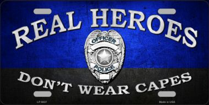Real Heroes Blue Wholesale Metal Novelty License Plate