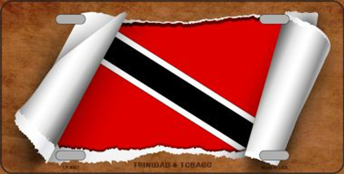 Trinidad & Tobago Flag Scroll Wholesale Metal Novelty License Plate