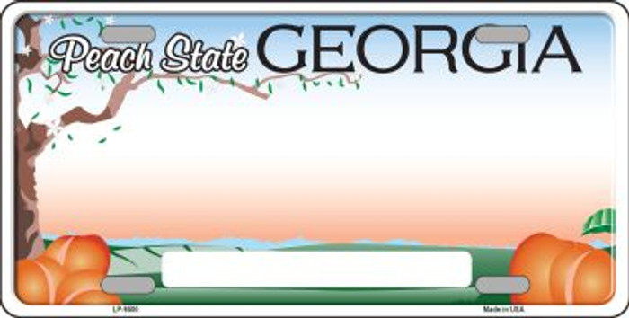Georgia Background Novelty Wholesale Metal License Plate