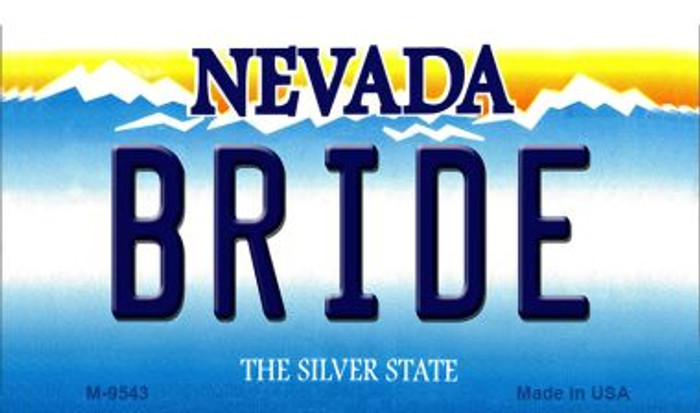 Bride Nevada Background Wholesale Novelty Metal Magnet