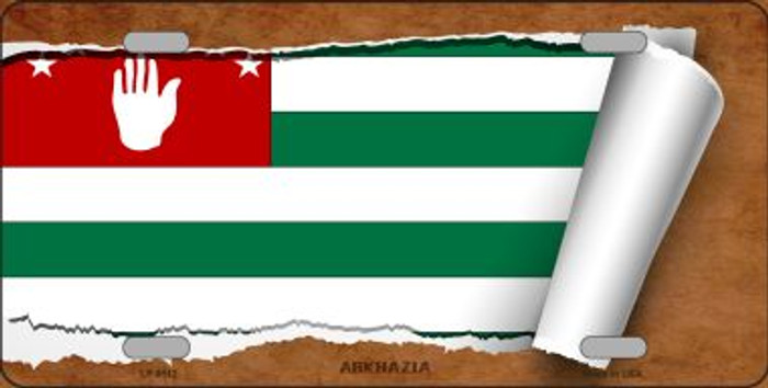 Abkhazia Flag Scroll Wholesale Metal Novelty License Plate