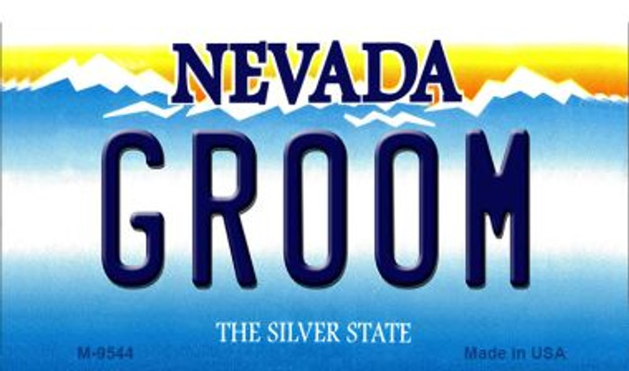 Groom Nevada Background Wholesale Novelty Metal Magnet