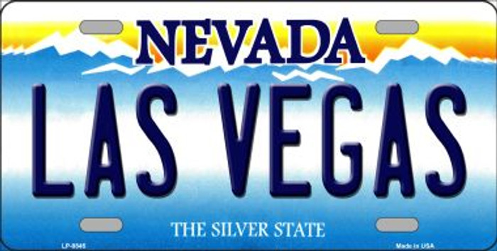 Las Vegas Nevada Background Novelty Wholesale Metal License Plate