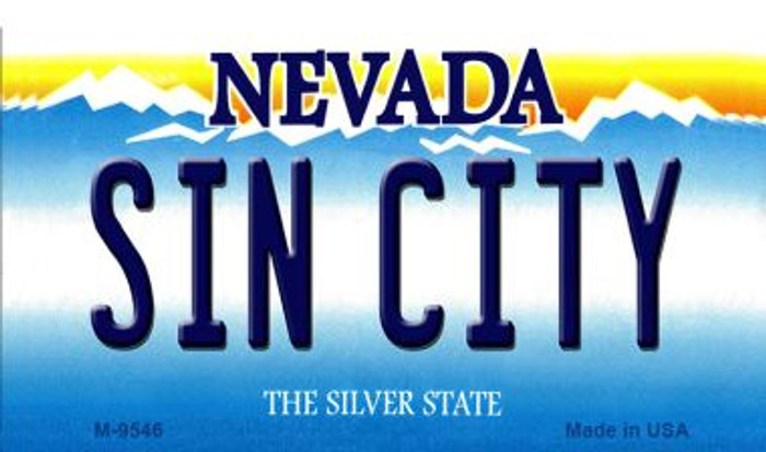 Sin City Nevada Background Wholesale Novelty Metal Magnet