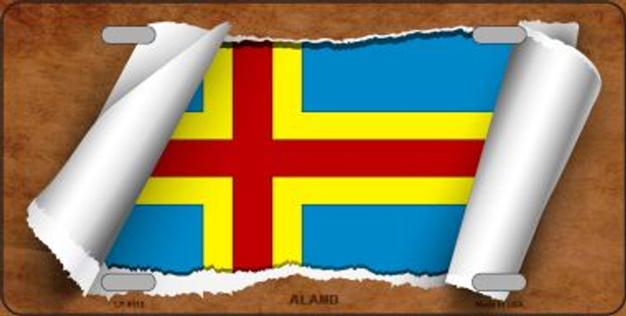Aland Flag Scroll Wholesale Metal Novelty License Plate