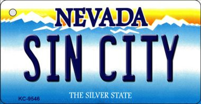Sin City Nevada Background Wholesale Novelty Key Chain