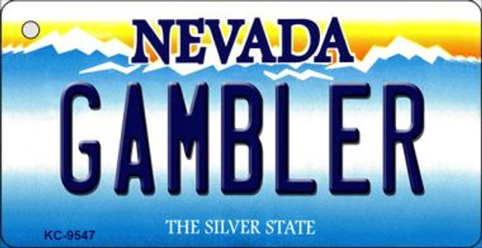 Gambler Nevada Background Wholesale Novelty Key Chain