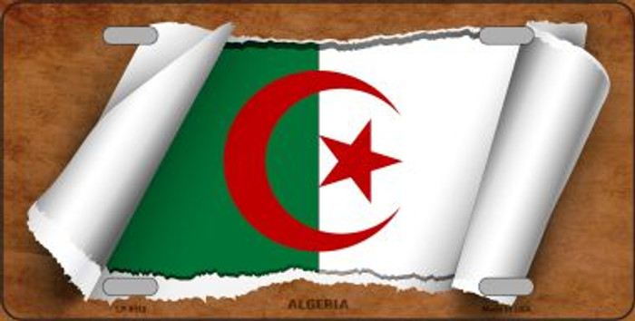 Algeria Flag Scroll Wholesale Metal Novelty License Plate
