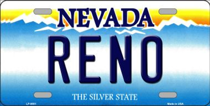 Reno Nevada Background Novelty Wholesale Metal License Plate