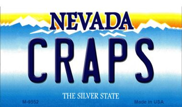 Craps Nevada Background Wholesale Novelty Metal Magnet