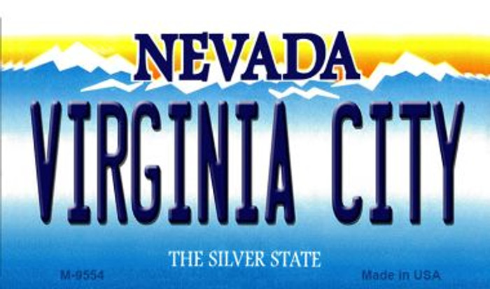 Virginia City Nevada Background Wholesale Novelty Metal Magnet