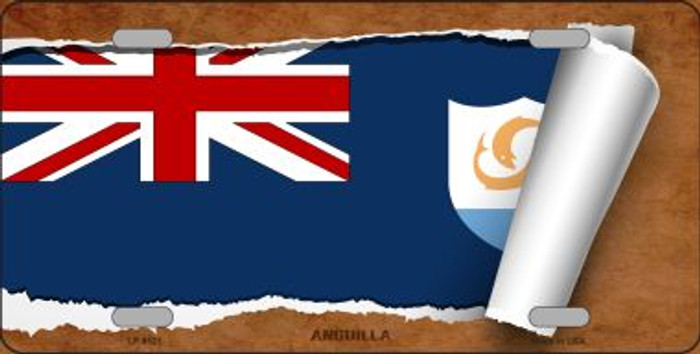 Anguilla Flag Scroll Wholesale Metal Novelty License Plate